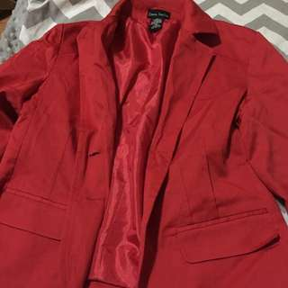COMEBACK SALE! P50 OFF!DANA TAYLOR RED ORANGE FITTED BLAZER @P150 ONLY