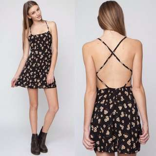 (BN) 💯 Authentic Brandy Melville Rin Dress In Sunflower