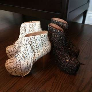 Lace Jeffrey Campbell Boots