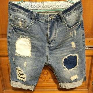 男女皆可牛仔破壞短褲