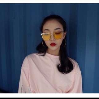韓妞必備✨ 黃色墨鏡