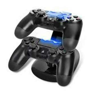 Dual USB Controller Charger Stand For Sony PlayStation 4 Slim Or PS4 Pro