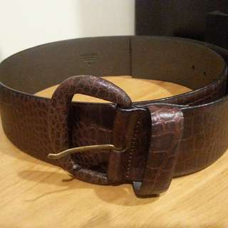 Brown Leather Oroton Ladies Belt sz L