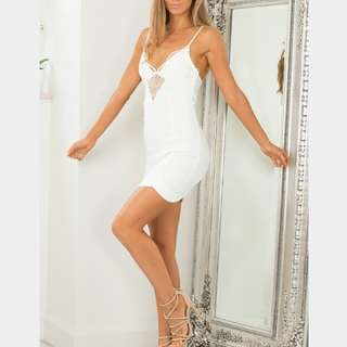 Rock With You Lace Dress in White Size 2 Extra Small