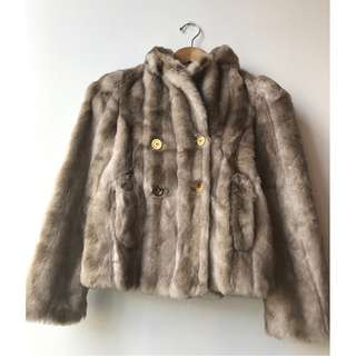 Juicy Couture Gorgeous Youth Faux Fur Coat, fully lined