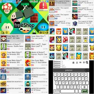 3DS games, DLC, Themes, MOD, Hacks (3DS mod to install free GAMEs)
