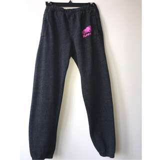 Roots Black Pepper Sweatpants with Dark Pink logo on bum