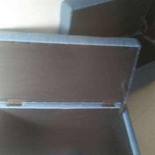 Brand New Medium-sized Storage Chair In nice Blue Denim Fabric X 2 Sets