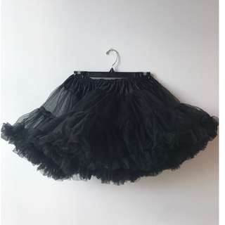 Black Short Crinoline - three layers for ultimate puffiness! One size