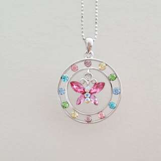 Circle Butterfly Necklace