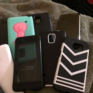 Various Samsung cases note 4 and s5