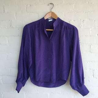 Club Monaco Silk printed blouse, size S