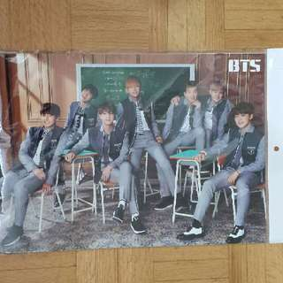 BTS Photo Poster + Sticket Set