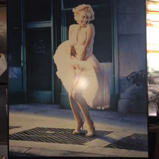 Giant Marilyn Monroe poster picture