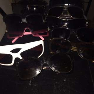 Various sunglasses most designer