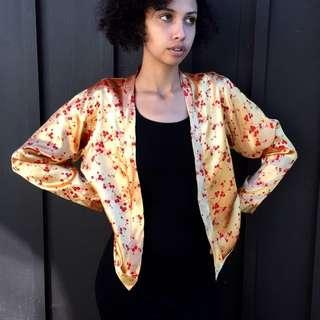 Vintage Silk Kimono Style Reversible Jacket in Medium