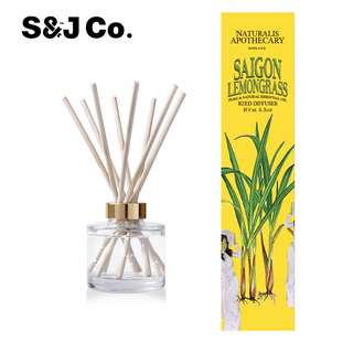 Scented Reed Diffuser Set by Natural Apothecary / Great Kitchen Air Freshener / The Perfect Gift Idea / Made in England - Saigon Lemongrass