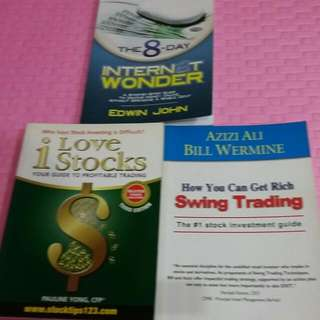 i Love Stocks- Guide to Profit Trading, Swing Trading- Stock Investment Guide  and  Internet Wonder 8Day-Guide to Make Money Online