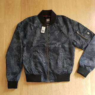 G-STAR Attacc Bomber Jacket (Sapphire- Blue All-over Camo Print)