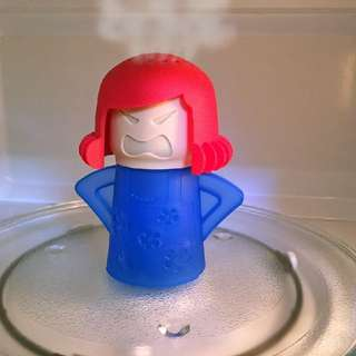 Angry Mama Microwave Oven Cleaner - Just Add Vinegar and Water