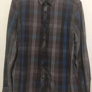 Men's Esprit Slim Fit Plaid Long Sleeves