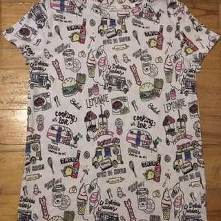 Bershka women's Printed Shirt