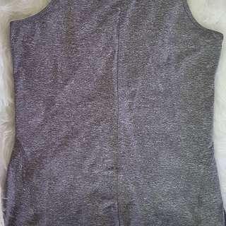 LULULEMON grey yoga top