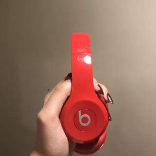 Red Beats With Case