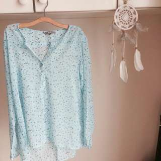 uniqlo flower top / blouse