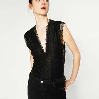 ZARA lace bodysuit