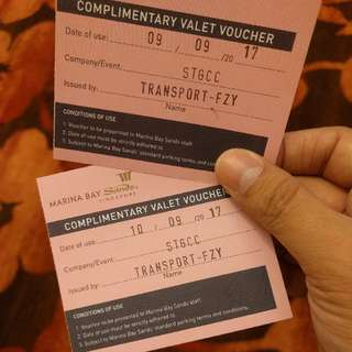 MBS Complimentary Valet Voucher For 10 Sep