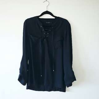 Jeans West Top Navy Blue