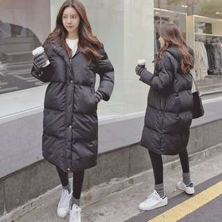 Korean Style Puffer Long Jacket