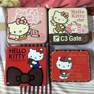 Hello Kitty 糖果空盒 方形 鐵盒