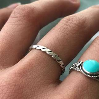 925 Sterling Silver Woven Ring