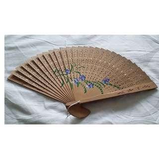 Vintage Folding Hand Fan Bamboo