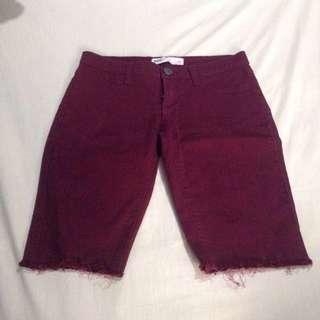 Maroon Long Shorts