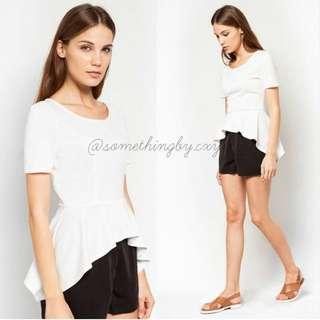 SALE! White short sleeve peplum tops