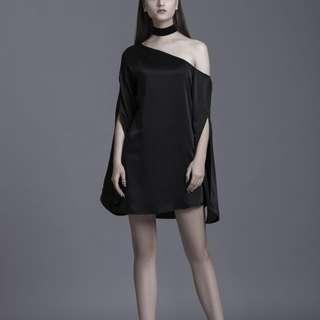 SALE ! Off shoulder mini satin dress