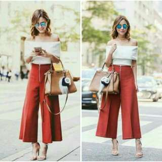☺Terno Loose Pants And White Off Shoulder