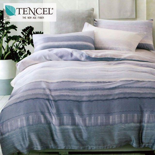 【樂】100%天絲TENCEL 雙人/雙人加大/特大 40支天絲 四件式鋪棉兩用被套床包組&鋪棉兩用被套床罩組(魅影)