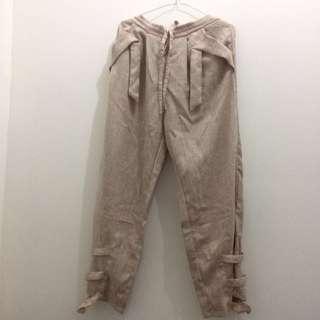 Celana Panjang - Semi Cullotte Pants Khaki Mayoutfit