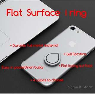 I Ring Flat Surface For iPhone , Samsung , Sony, Oppo , Xiao Mi , Nokia Hand Phone ( Instock) Iring , I Ring
