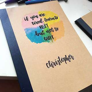 Customisable Calligraphy notebook notebooks muji gifts gifts birthday present presents friends Friend customised colleagues colleague farewell graduating graduating students student children's day children kids door kid personalised boy girls boys girls