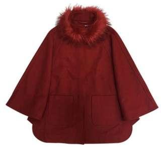 🚚 JA斗篷式羊毛大衣