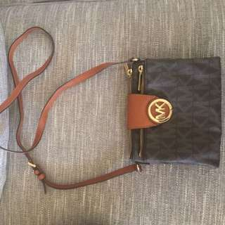 Authentic Michael kors cross body with card slots
