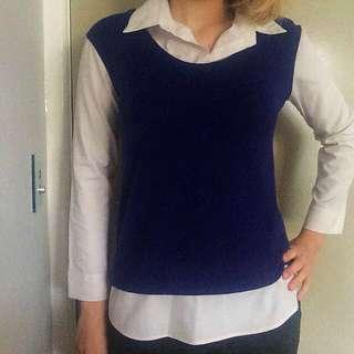 Two-toned Shirt/Vest Combination Item