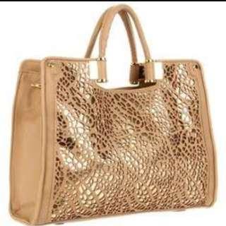 Ivanka Trump Olivia Faux-Fur Bucket Hobo Bag
