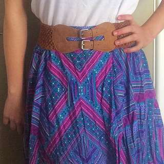 Colourful Millers Belted Skirt