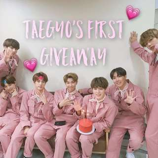 TAEGYO'S FIRST GIVEAWAY (BTS)